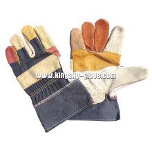 Regenbogen umgekehrt gepatcht Palm Möbel Leder Arbeit Handschuh-4011