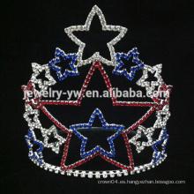 Belleza chica rhinestone cristal estrella tiaras coronas