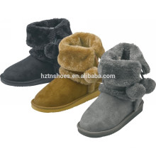 Meninas quentes botas de Natal neve inverno presente botas com bola