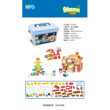 Learning Construction Colored Plastic Building Blocks Toys