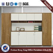 Aluminum Glass Doors Office Bookcase Modern Melamine Office Furniture (HX-5NF055)