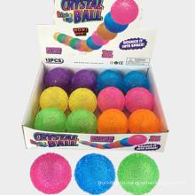 Hot selling dog toy LED flash jumping ball source luminous crunchy bouncy ball pet luminous toy