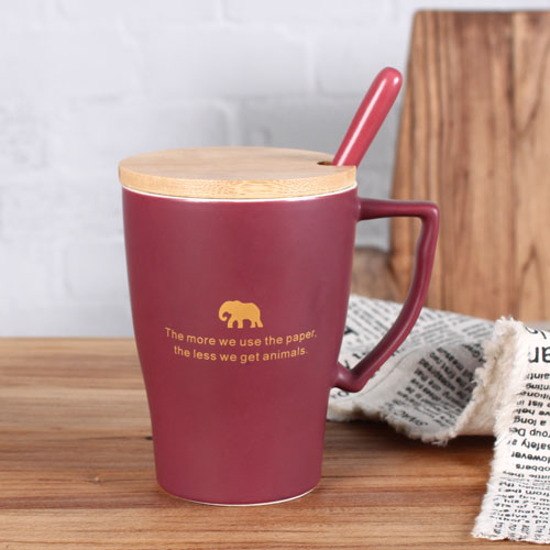 animal matte colorful coffee mug
