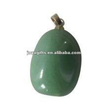 Pendentif en pierre naturelle, pendentif en pierres tombales vert Aventurine