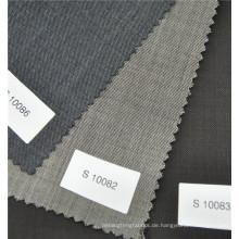 schwarze Farbe 100% Wolle Antistatische Anti-Shrink-Gewebe für Business-Anzug