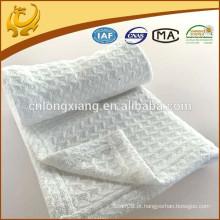 New Design Plain Honeycomb Wholesales Branco Algodão Orgânico Baby Recebendo Cobertores