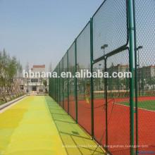 Malla de alambre de cadena de alta calidad para valla de seguridad con recubrimiento de malla de seguridad de deportes / malla de malla de acoplamiento galvanizado