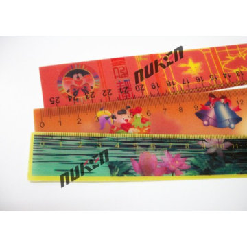 Leveling Ruler with 3D Effect Lenticular Printing