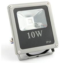 Vente chaude ac100-240v dc12-24v IP66 10w projecteur rgb led