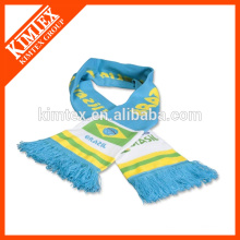 Оптовые зимние на заказ трикотажные спортивные шарфы