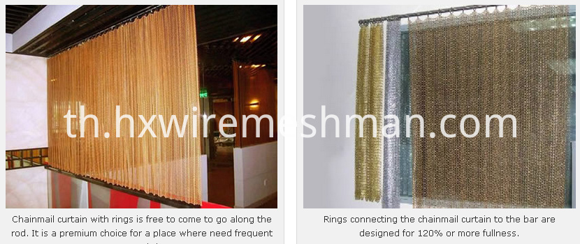 metal chainmail curtains