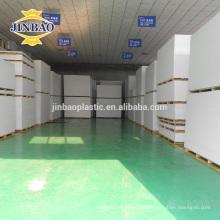 JINBAO Mirror superficie rígida metalizado PVC hoja China proveedor