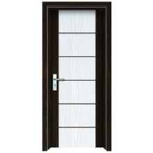 Porta de vidro interior de madeira do PVC