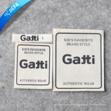 Étiquette imprimée par toile en gros / étiquette d'impression de logo de marque