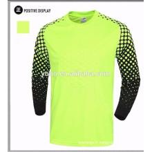chemise de gardien de but de maillot de football de conception faite sur commande, maillot de gardien de but, uniforme de gardien de but