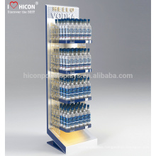 To Help You Discover The Best Of Your Brand Metal Floor 4 Tiered Water Liquor Bottle Display Stands For Retail