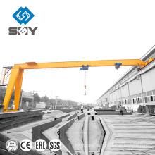 10 Tonnen hohe Leistung 2 Tonnen Hebezeug Single Beam Semi Gantry Cranes zum Verkauf