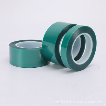9mm Width Heat Resistance Green PET Silicone Polyester Masking Industrial Tape