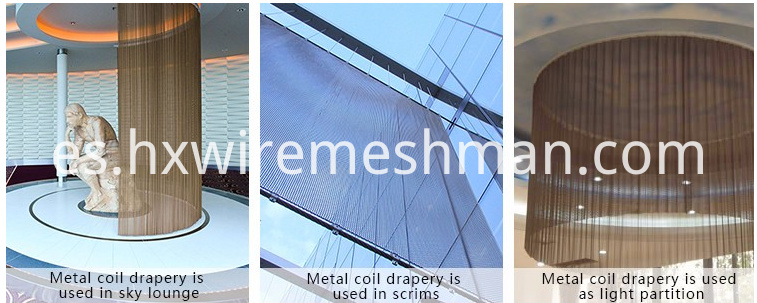 wire mesh drapery use