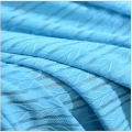 Lake Blue Mesh gestreifte Jacquard-Strickwaren