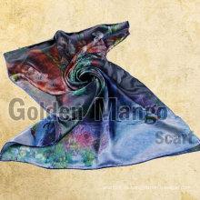 Mantón de seda de la impresión digital de la manera del 100%
