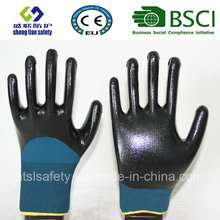 13G Polyester Shell mit 3/4 Nitril beschichtete Arbeitshandschuhe (SL-N118)
