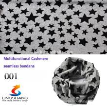 Custom Multifunctional star bandana tube scarf ,cashmere headwear