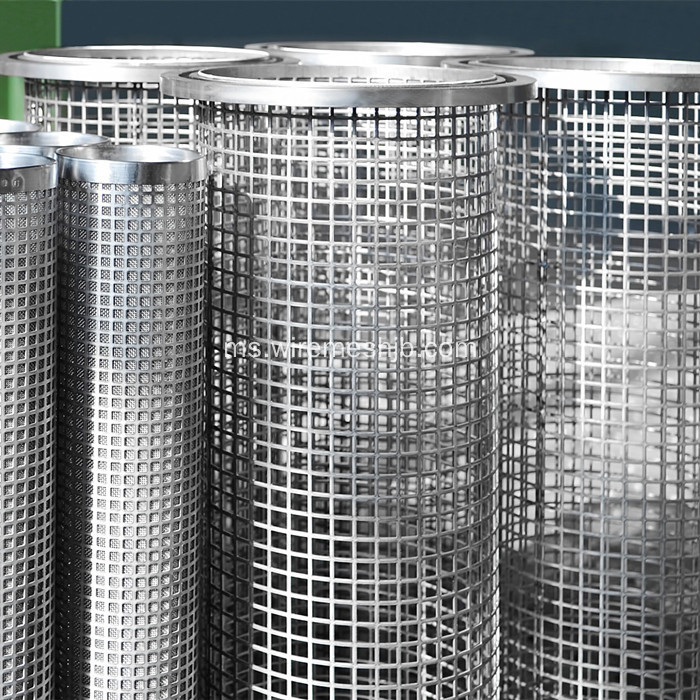 Lubang persegi Perforated Metal Mesh