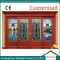 Solid Wooden Glass Front Entry Door for Villa