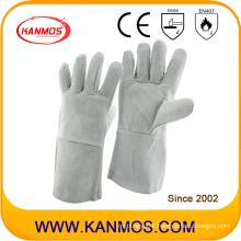 35cm Grey Cow Split Leather Industrial Hand Safety Welding Work Gloves (11101)