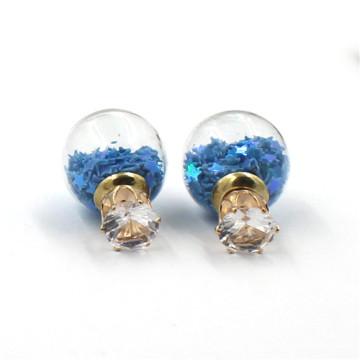 Personal Glass Bottle Jewelry Stud Earring Wholesale