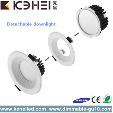 9W LED Downlight CE RoHS Aprobado Alto Brillo