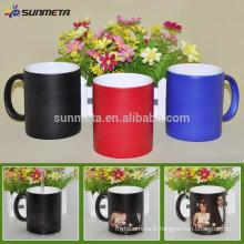 Sunmeta whole sale 11oz Blank Sublimation Color Changing Mug matte