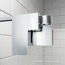 Bathroom stainless steel hinge pivot frameless glass shower door hardware
