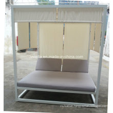 All Weather Aluminum and Plywood Daybed for Hotel Beach Garden