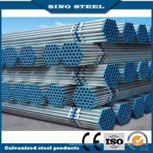 Tubo de acero galvanizado redondo sumergido en caliente para la construcción