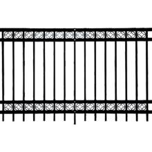 Hersteller Montage PVC beschichtet Dekorative Stahl Zaun