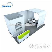 10x20 affichage de stand d'exposition de tissu de tension avec la salle de stockage et la grande pièce d'arches