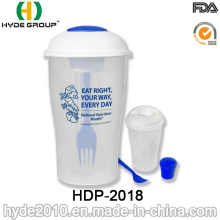 Salad to Go Container with Dressing Container and Fork (HDP-2018)