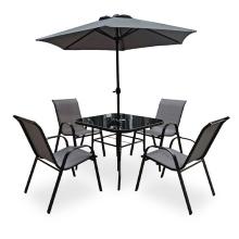 Modern Design Patio Set with Umbrella Patio Sling Furniture Garden Sets