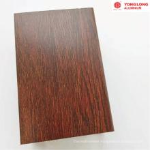glass doors Wood Finish Aluminium Profiles
