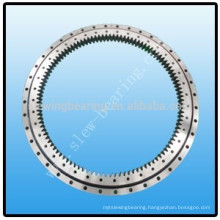 Double row ball slewing bearing with internal gear