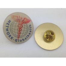 Square Brass Epoxy-Dripping Lapel Pin, Custom Badge (GZHY-YS-006)