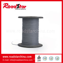 1mm width grey reflective knitting thread (single sided reflective)