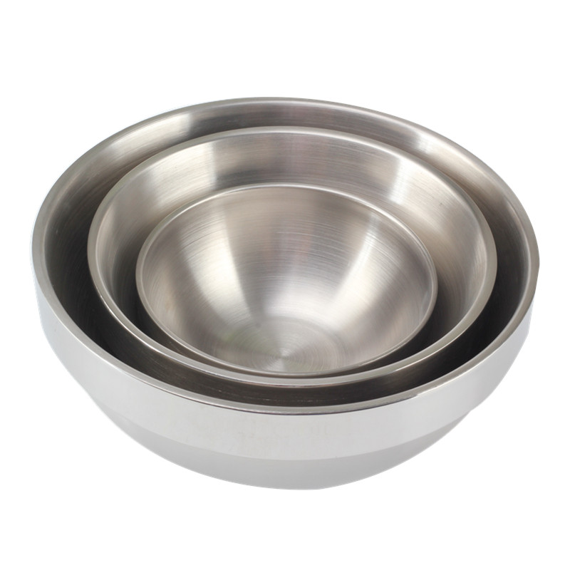Double Wall Stainless Steel Mixing Bowl Set