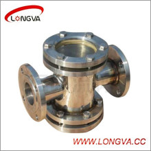 Sanitary Stainless Steel Four-Way Flanged Sight Glass