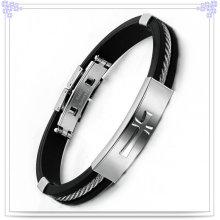 Joyería de moda de caucho pulsera pulsera de silicona (lb546)