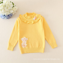 hot sale baby girls sweater Bottoming sweater lace collar for baby girls