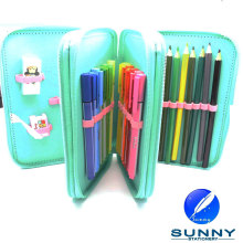 2015 Hot Sale Zip Pencil Case Stationery Set, Third Tier Pencil Case, School Bag Stationery Set