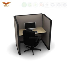 Hot Sale Single Computer Desk Office Cubicles with High Ao2 System Style Dividers (HY-287)
